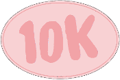 10K Pink Oval