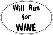 Will Run For Wine Oval