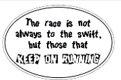 Keep Running Oval