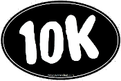10K Black Oval Sticker