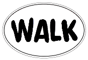 WALK Oval Sticker
