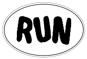 RUN Oval Sticker
