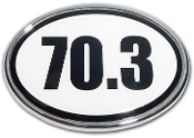 70.3 Large White Oval Magnet