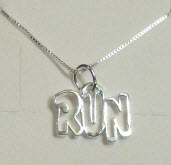 "Charm: ""RUN"" on Necklace"