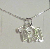 """TRI"" Charm on Necklace"