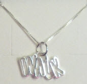 """WALK"" Charm on Necklace"